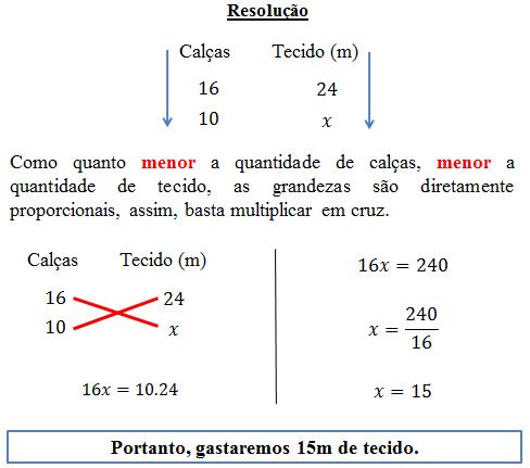 regra de 3 simples como calcular