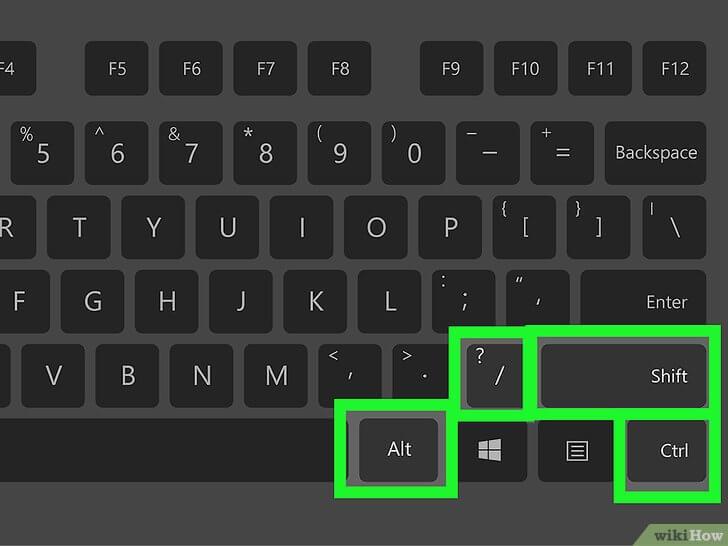 ponto de interrogação invertido no teclado