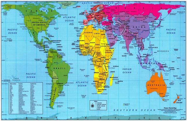 Mapa mundi Gall Peters