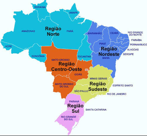 Mapa do Brasil: estados, capitais, tipos de mapa e mais.