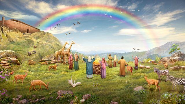 arco íris na bíblia