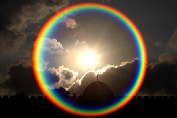 arco íris círculo
