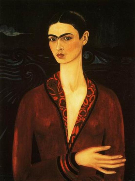 Obra: Autorretrato com vestido de veludo