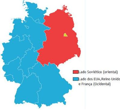 divisão da Alemanha após a Segunda Guerra