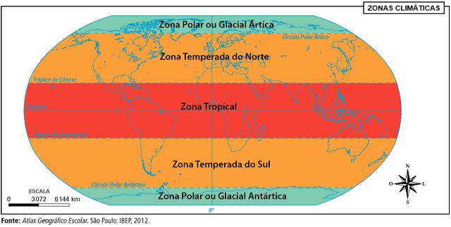 zonas climáticas no mundo
