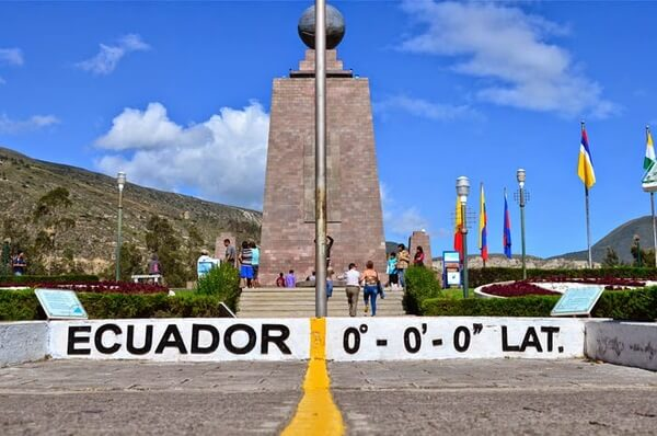 Linha do Equador fronteira