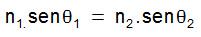 lei de snell fórmula