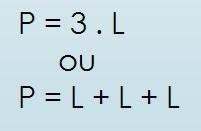 perímetro do triângulo equilátero