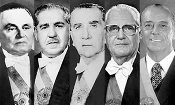 presidentes do Brasil Regime Militar