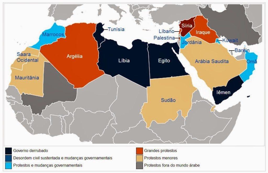 envolvidos na Primavera Árabe