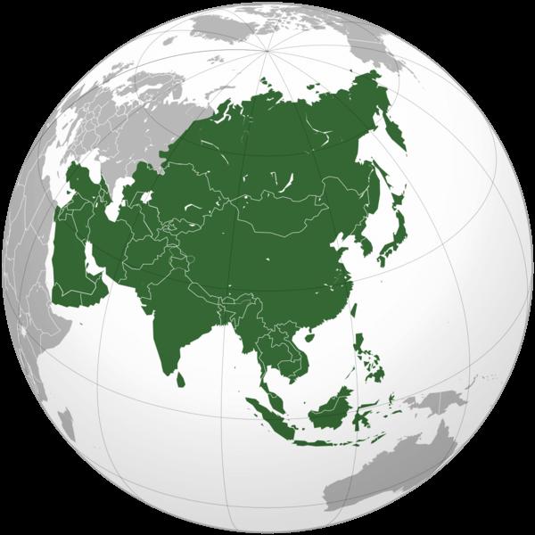 países da Ásia