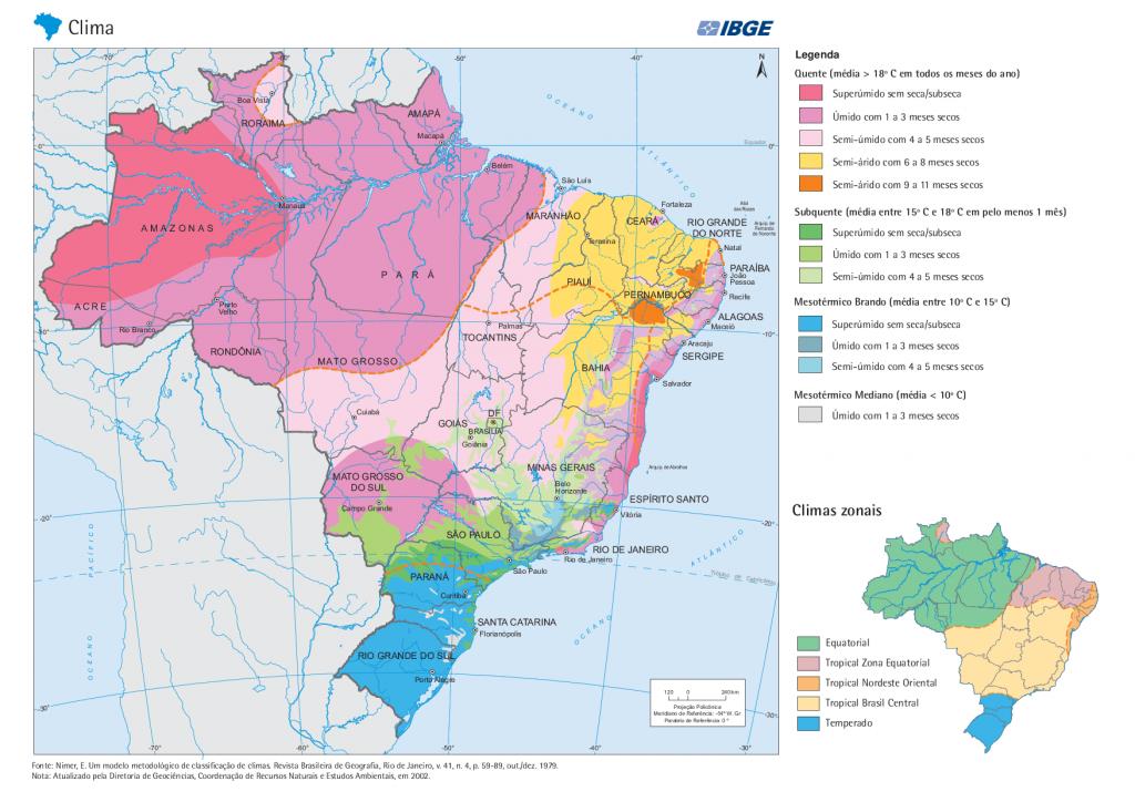 Mapa dos Climas do Brasil