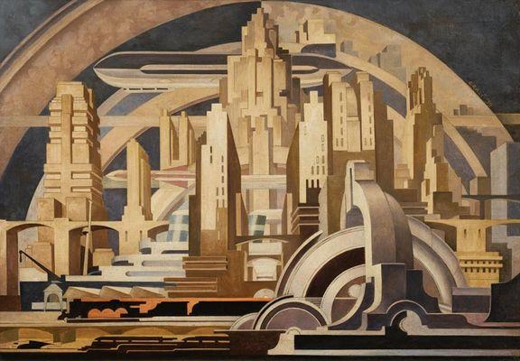 cityscape-tullio-crali-1939
