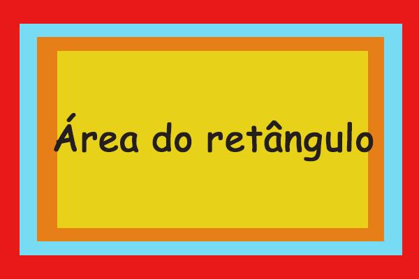 Área do retângulo