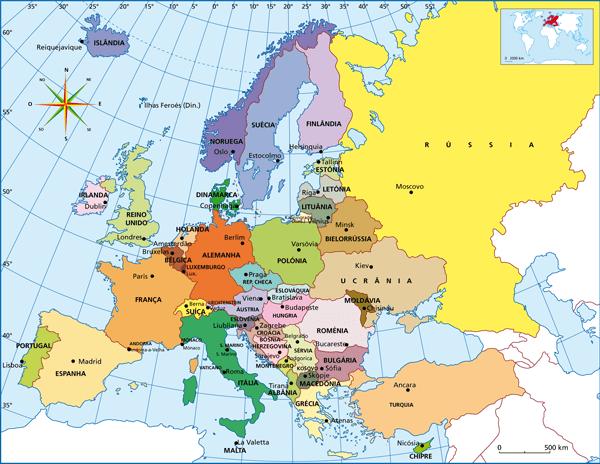 Mapa Múndi Europa