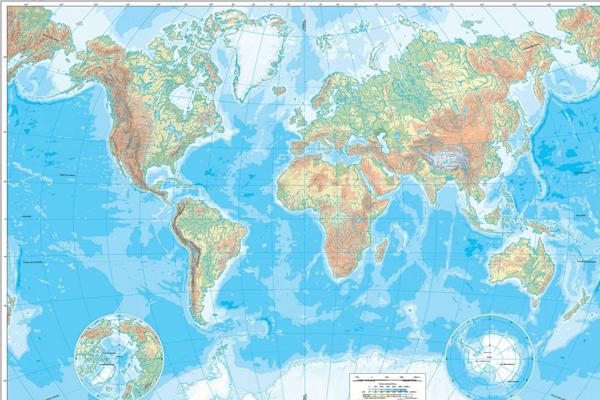 Mapa Múndi Físico