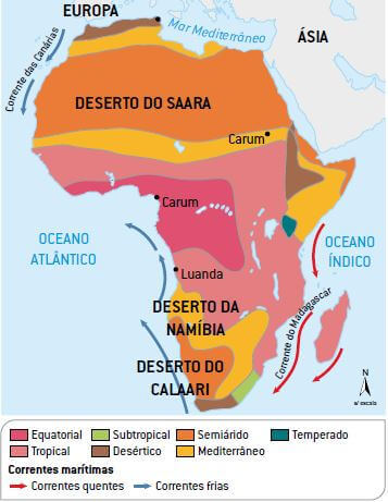 mapa clima África