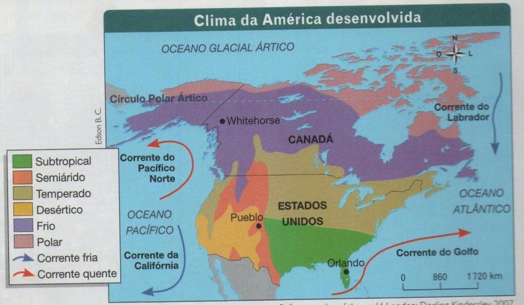 mapa clima Estados Unidos