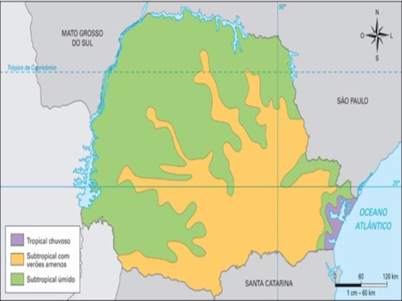 Mapa clima Paraná