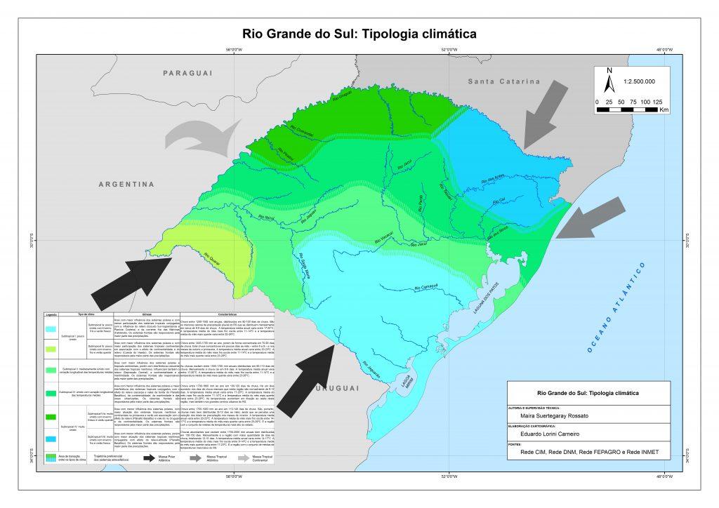Mapa clima Rio Grande do Sul