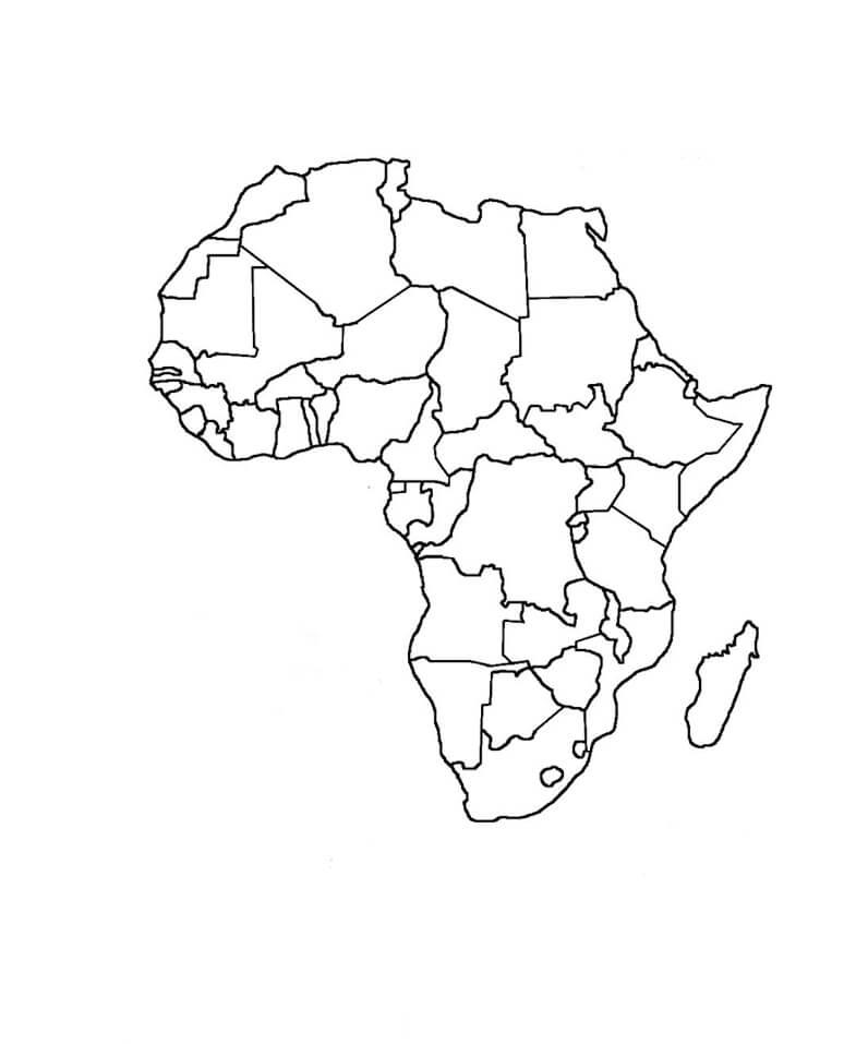 Mapa colorir África