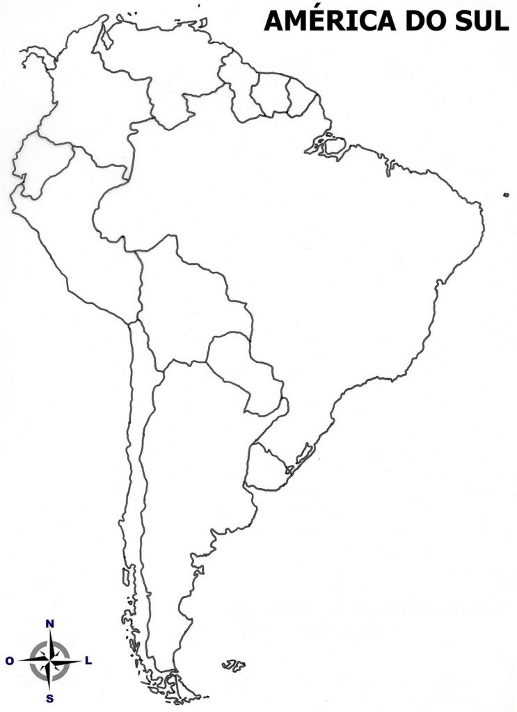 mapa colorir América do Sul