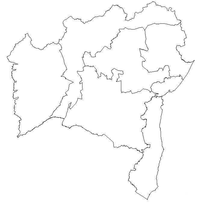 mapa colorir Bahia