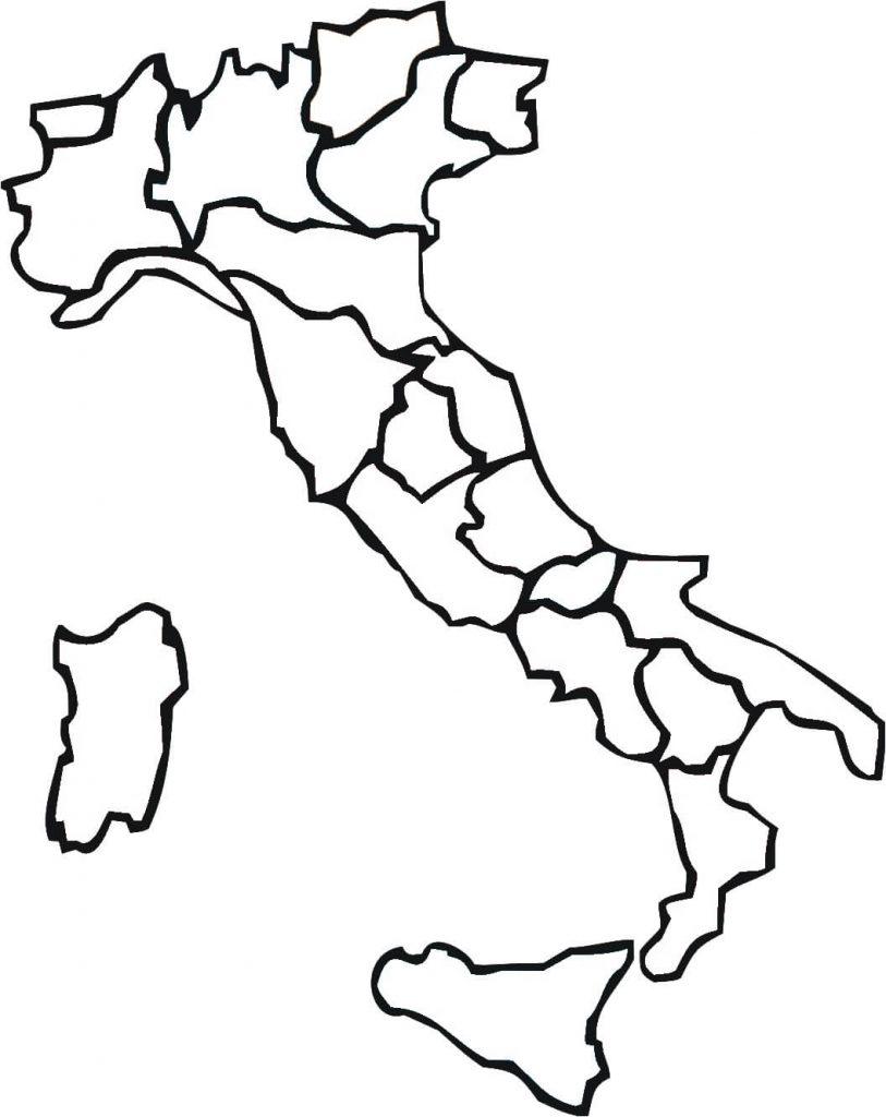 mapa colorir Itália