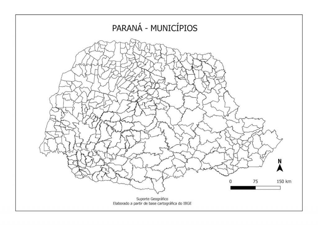 Mapa colorir Paraná