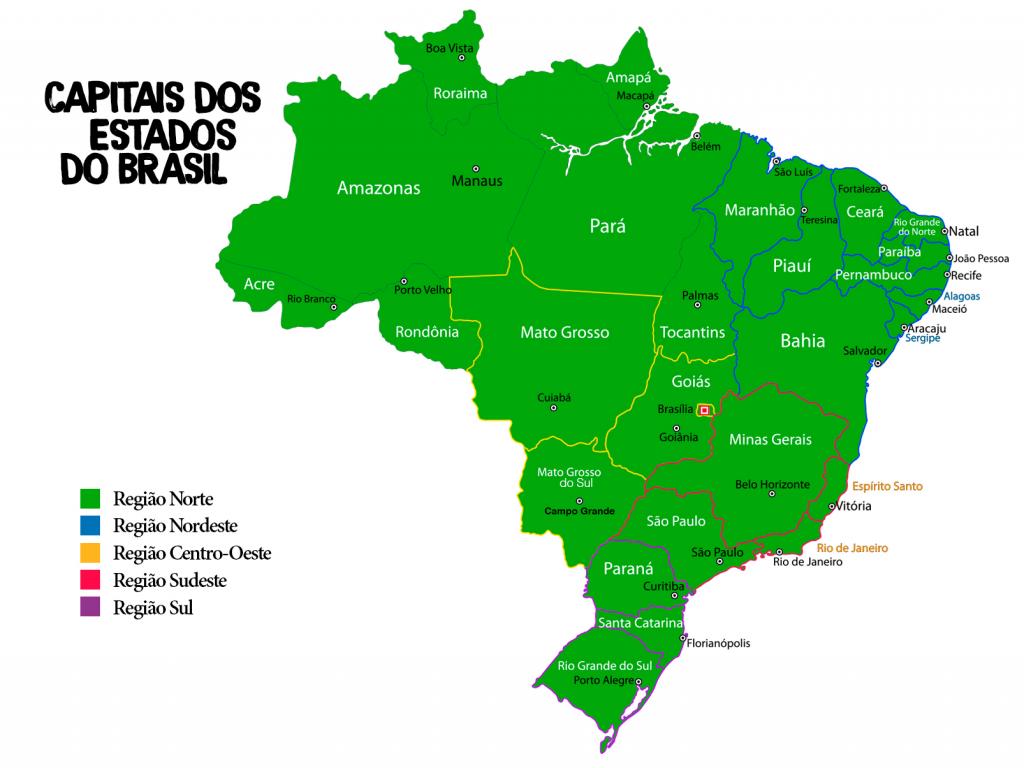Mapa das capitais do Brasil
