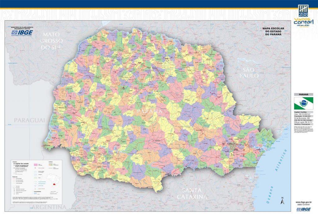 Mapa político Paraná
