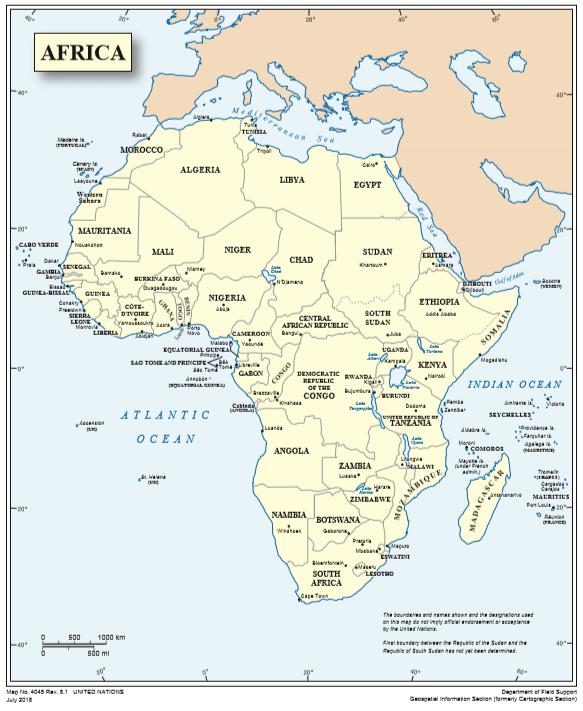 Mapa político África