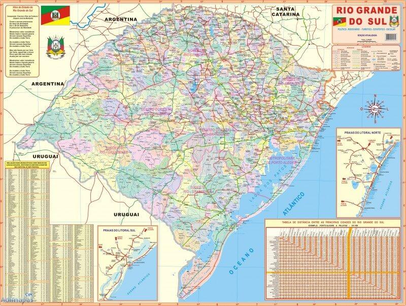 Mapa político Rio Grande do Sul