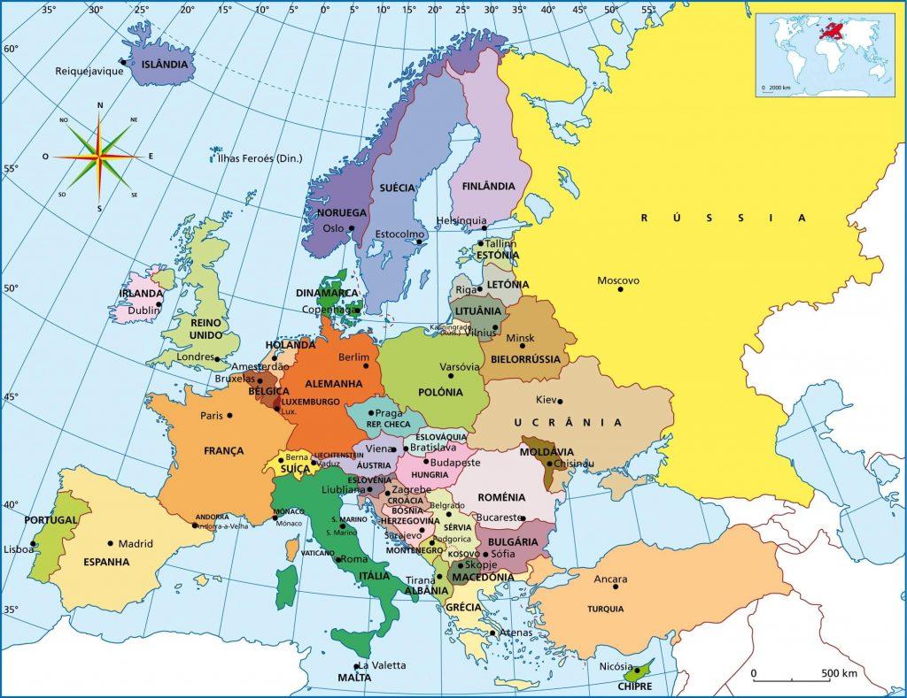 mapa político Europa