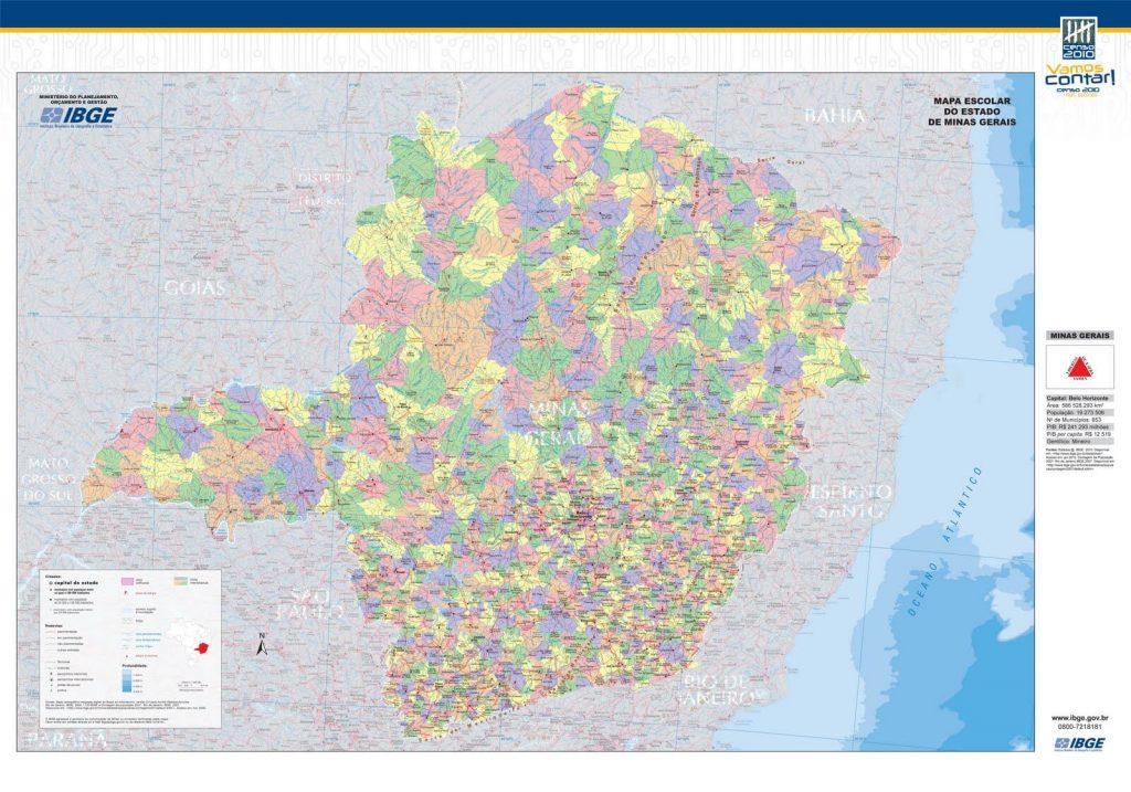 mapa político Minas Gerais