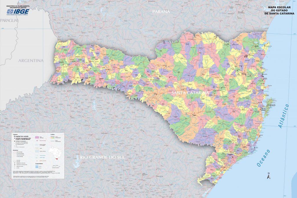 mapa político Santa Catarina