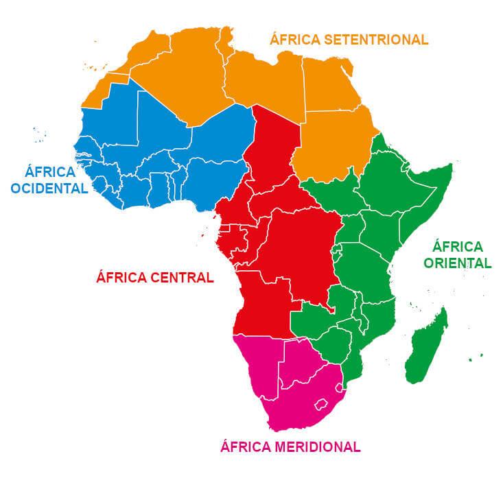 Mapa regiões África