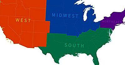 mapa regiões Estados Unidos
