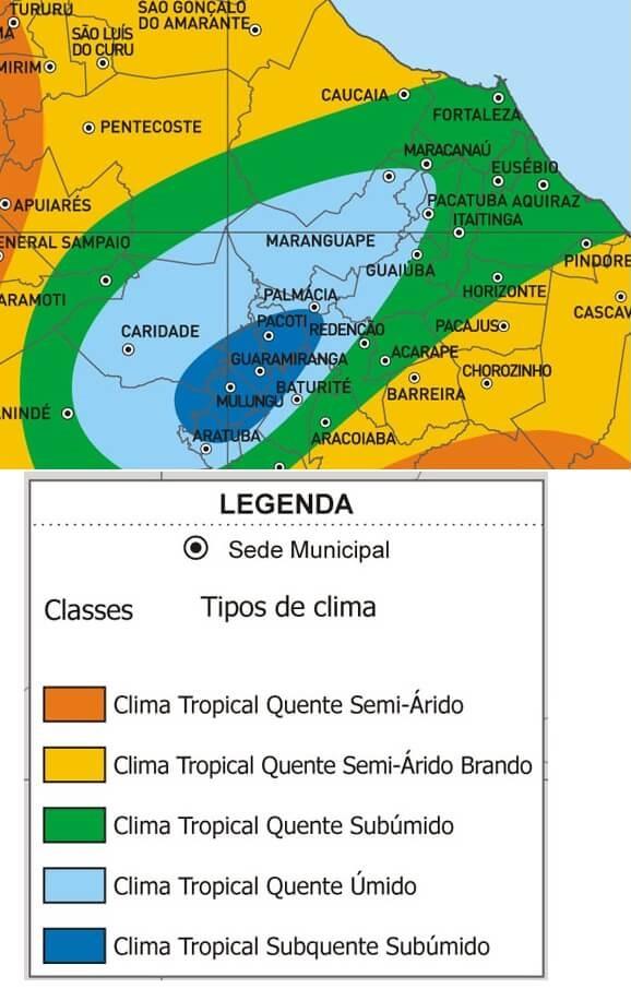 mapa clima Fortaleza