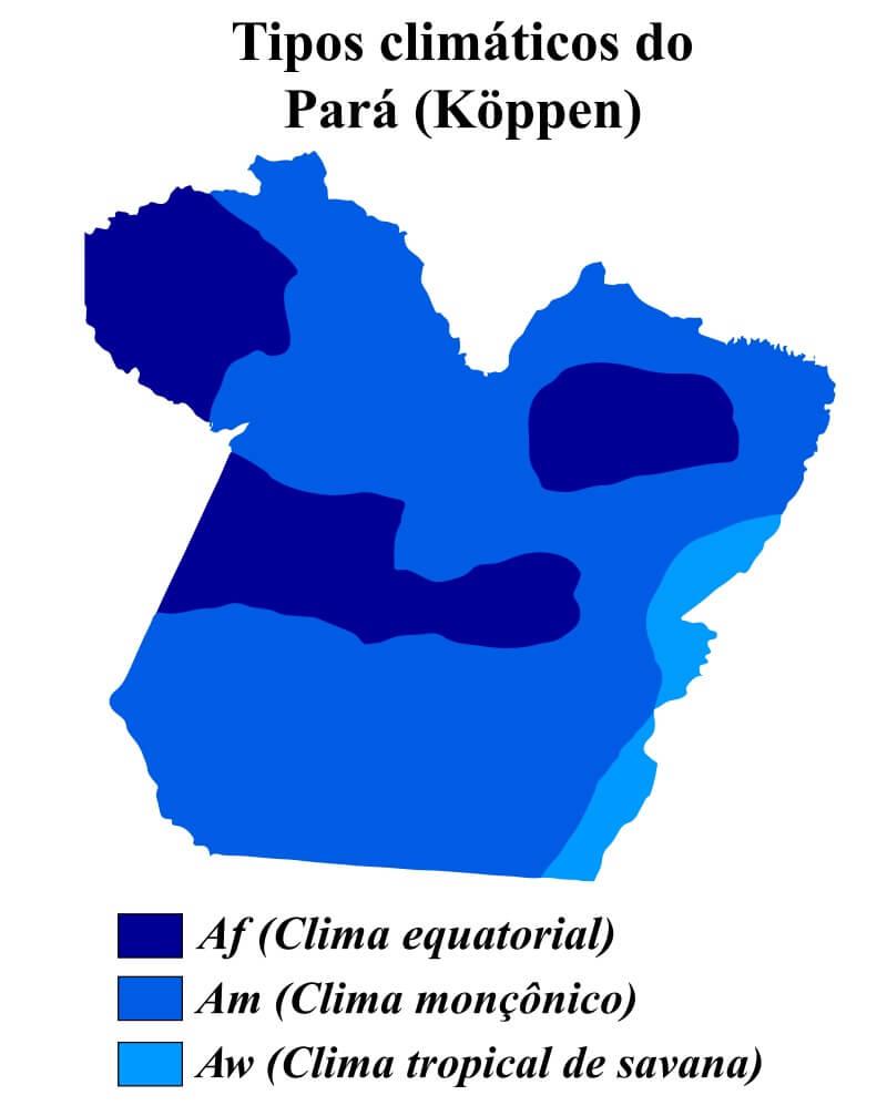 mapa climático Pará