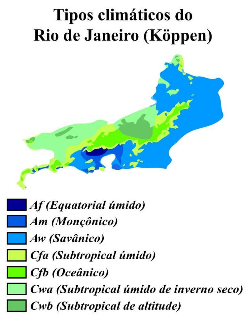 mapa climático Rio de Janeiro