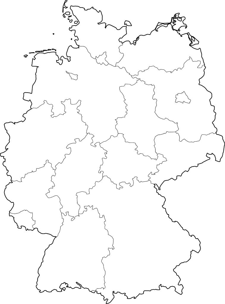 mapa colorir Alemanha