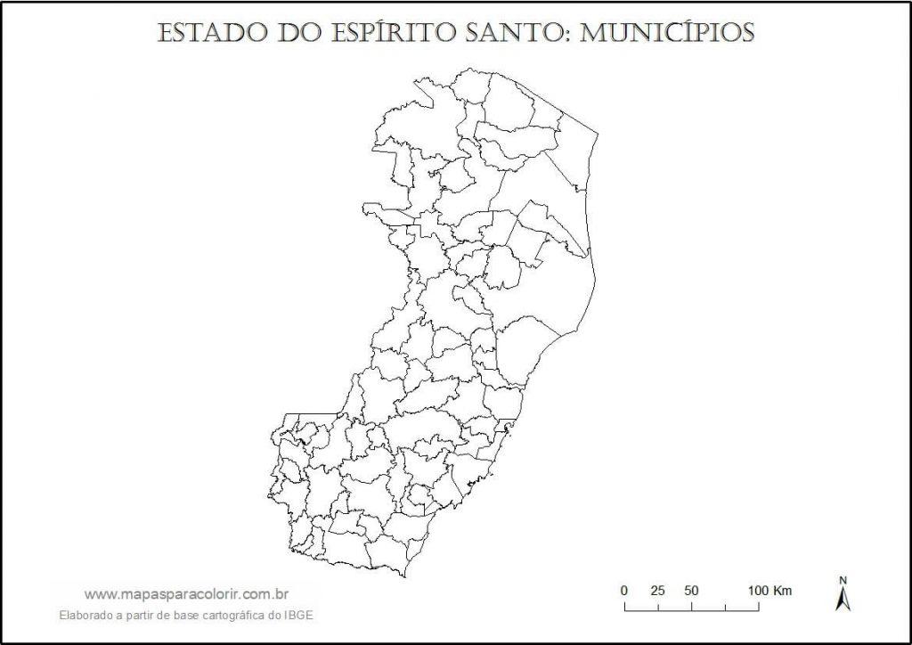 Mapa Do Espirito Santo Lista De Cidades Tipos De Mapa E