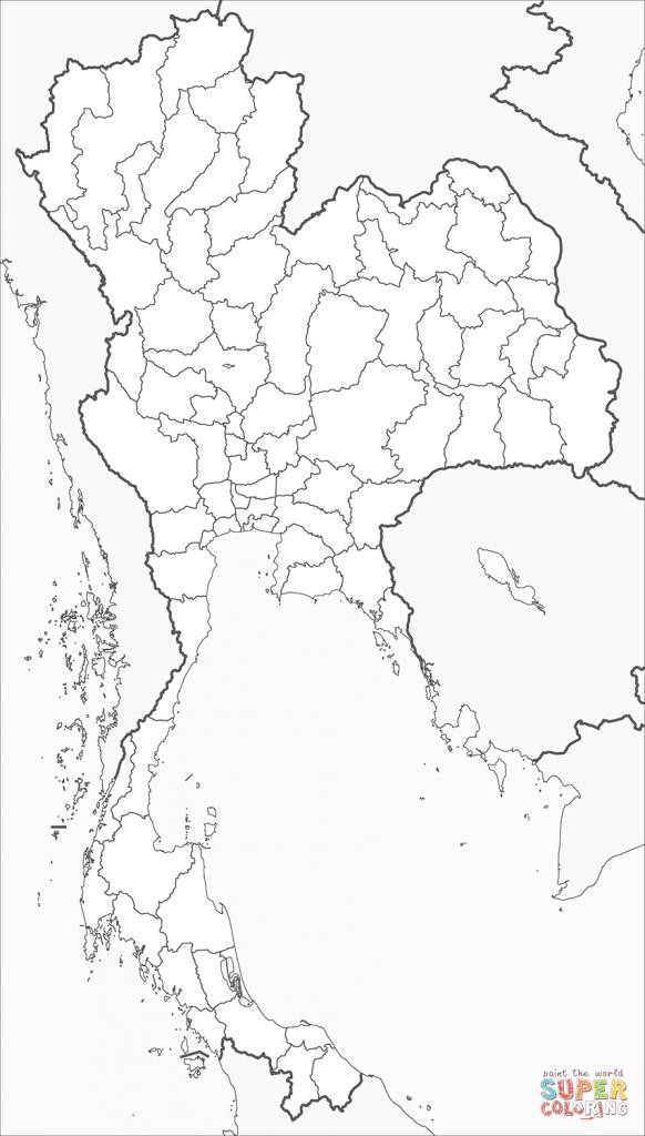 mapa colorir Tailândia