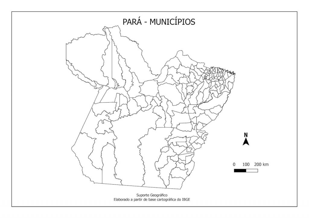 mapa Pará colorir
