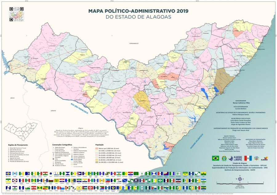 mapa político Alagoas