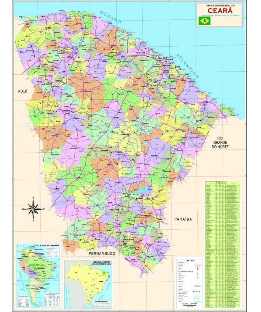 mapa político Ceará