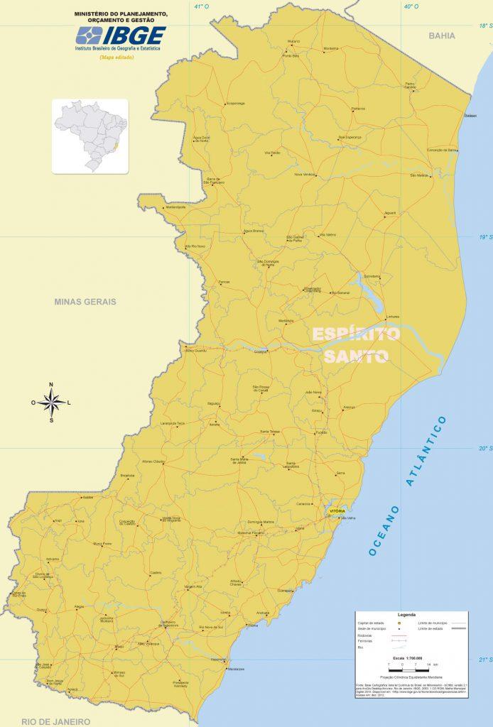 mapa político Espírito Santo