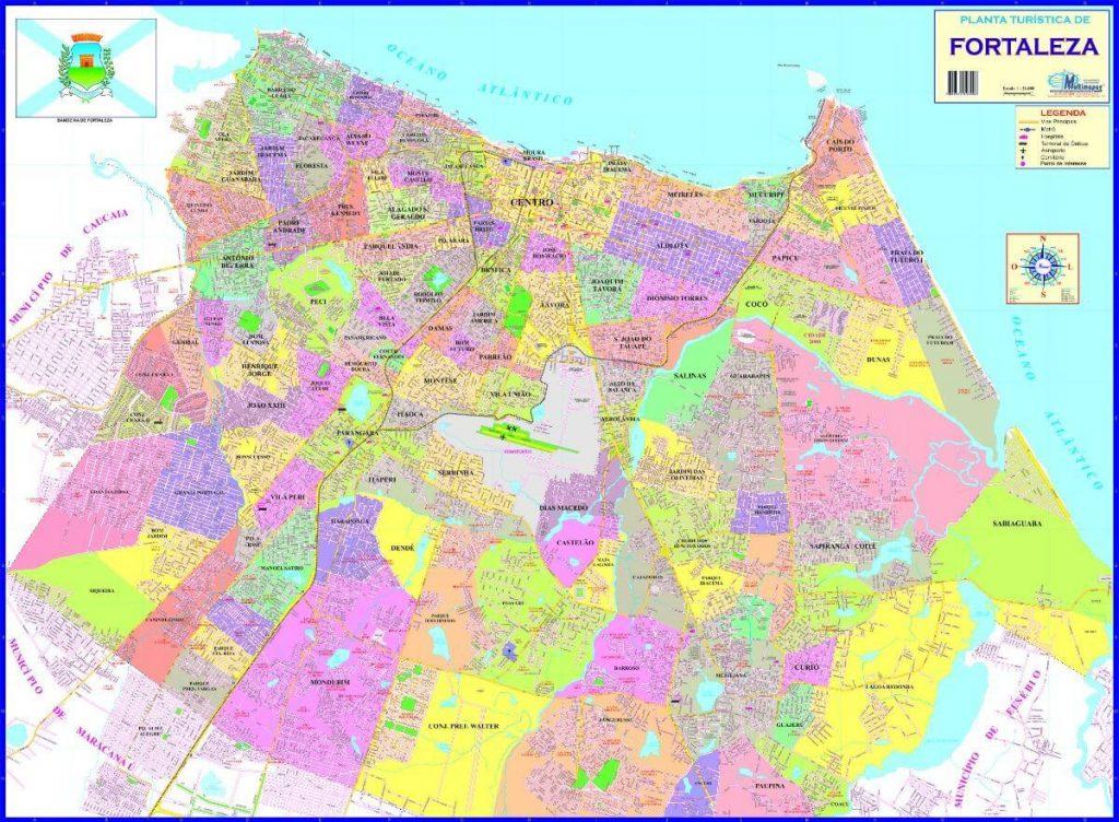 mapa político Fortaleza
