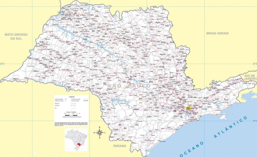 mapa político São Paulo
